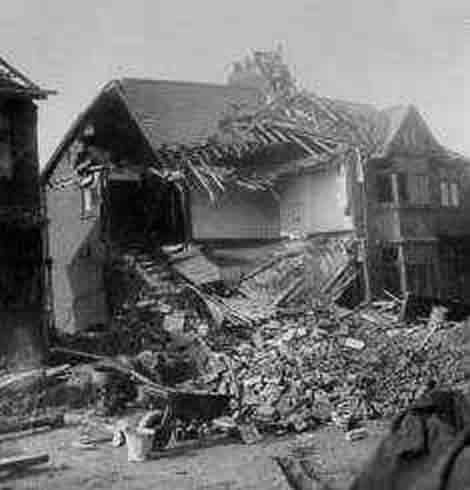 Bombed Castleford House